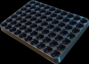Plastic auto parts tray