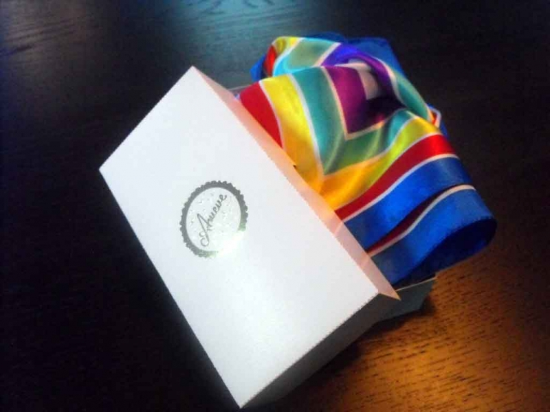 Gift box for scarves