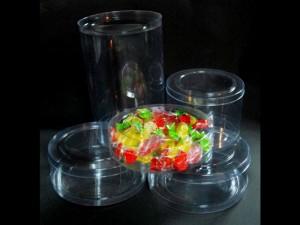 Clear candy cylinders Ambalaje Plastic | Ambalaje Din Plastic