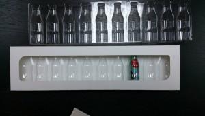 Bottles blister packaging
