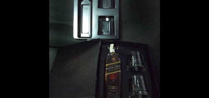 Blistere plastic set cadou sticla doua pahare whisky