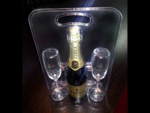 Plastic blister for champagne glasses Ambalaje Plastic | Ambalaje Din Plastic