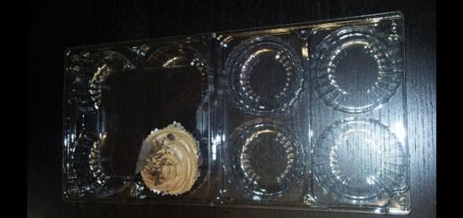Caserole din plastic 4 compartimente pentru cupcakes Ambalaje Plastic   Ambalaje Din Plastic