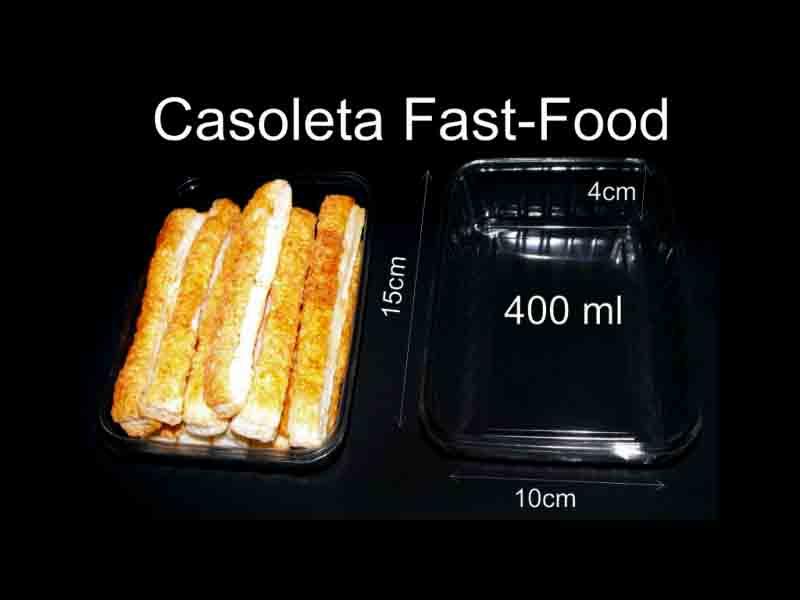 Caserole din plastic fast-food