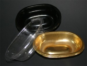 Plastic catering packaging