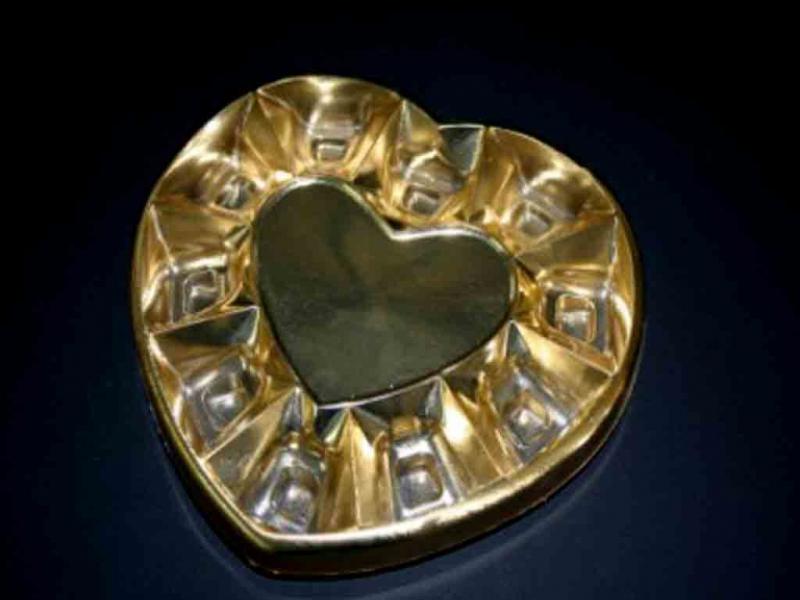 Chese plastic forma inimioare pentru bomboane