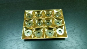 Plastic tray insert for 12 pralines