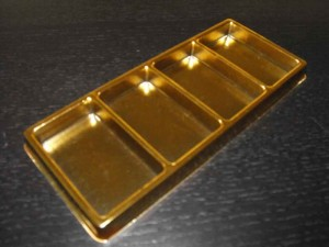 Gold 4 cell chocolate insert tray