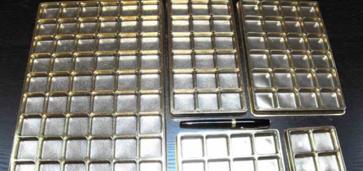 Chese aurii din plastic pentru bomboane