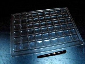 Clear plastic trays