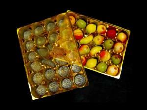 Marzipan figures plastic tray