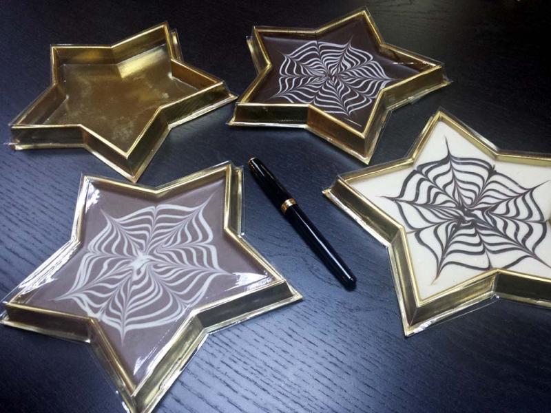 Chese in forma de stea pentru ciocolata