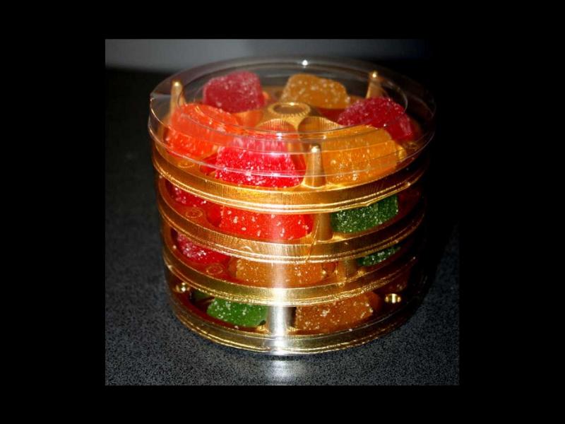 Chese din plastic rotunde pentru jeleuri