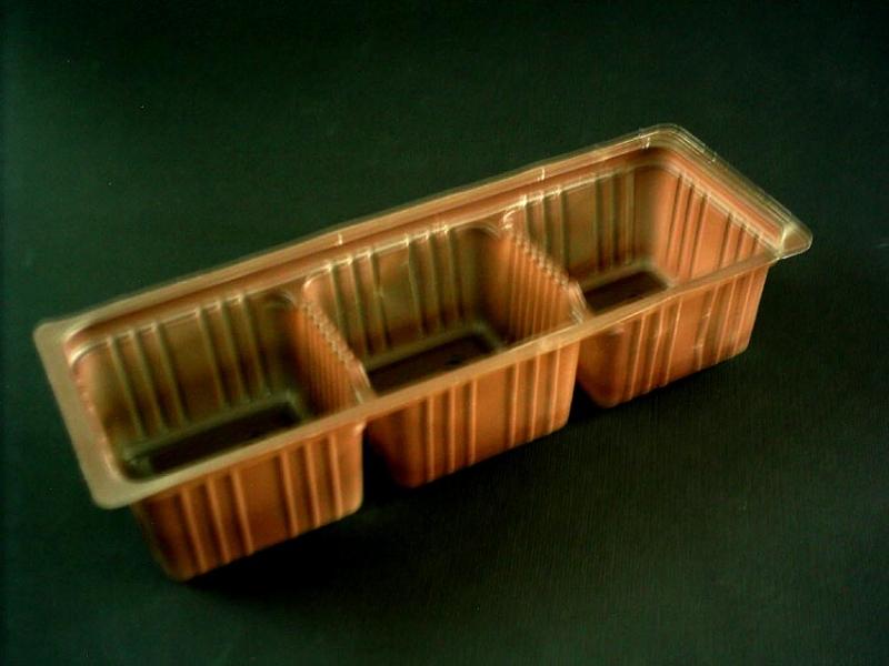 Chese plastic pentru biscuiti cu 3 compartimente