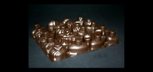 Chese plastic pentru bomboane, praline