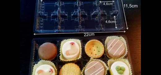 Chese din plastic pentru 8 prajiturele Ambalaje Plastic | Ambalaje Din Plastic