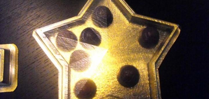 Chese plastic forma stea pentru praline