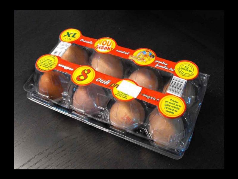 Cofraje 8 oua gaina XL, caserole oua gaina