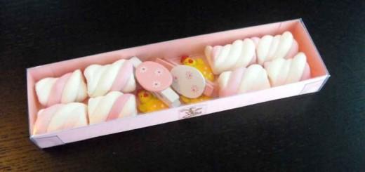 Cutii carton figurine Marshmallow personalizate Paste