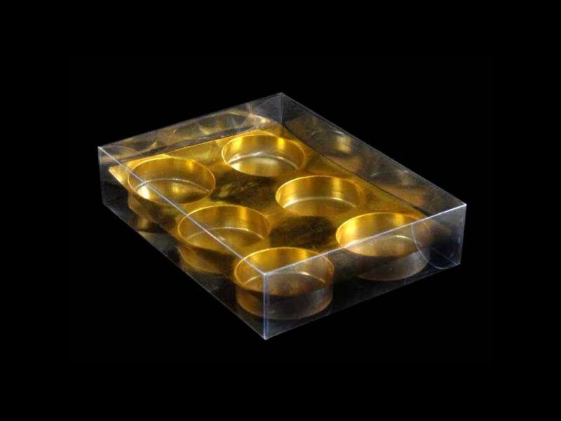 Cutii plastic cu chesa aurie