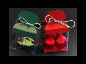 Clear plastic truffle and chocolate boxes
