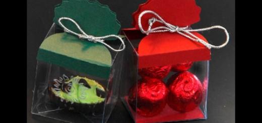 Cutii plastic cu carton pentru bomboane