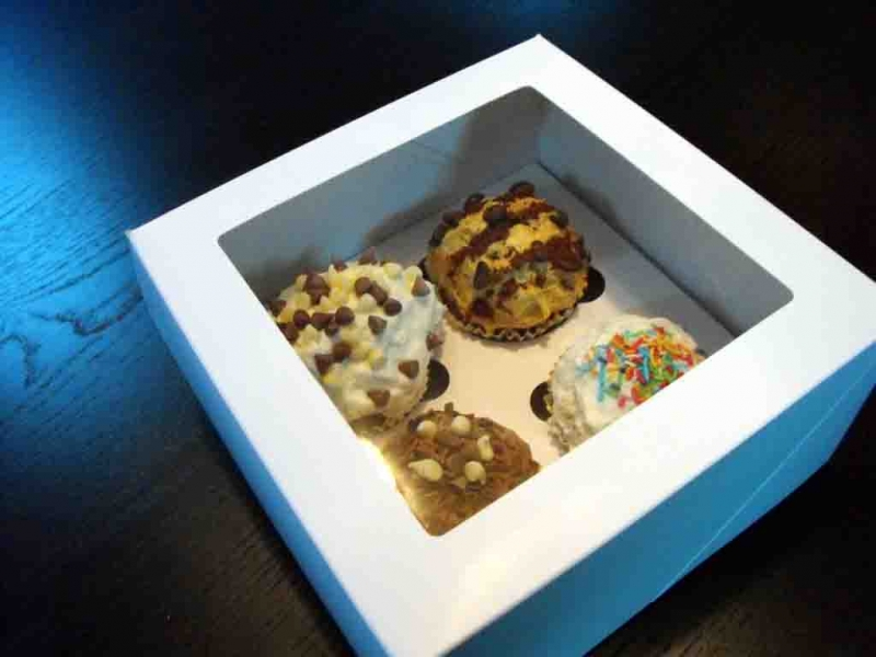 Cutii carton 4 cupcakes