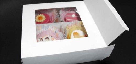 Cutii carton 4 petits fours Ambalaje Plastic | Ambalaje Din Plastic