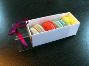 White box macarons Ambalaje Plastic | Ambalaje Din Plastic