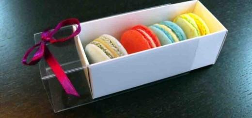 Cutii carton alb Macarons, Megamacarons Ambalaje Plastic | Ambalaje Din Plastic