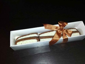 White paper gift box bakery