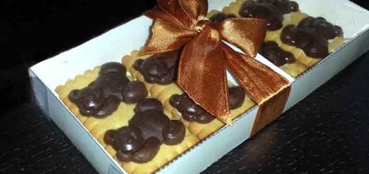 Cutii carton biscuiti cu glazura ciocolata ursuleti Ambalaje Plastic   Ambalaje Din Plastic