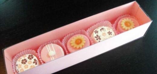 Cutii din carton colorat pentru petits fours
