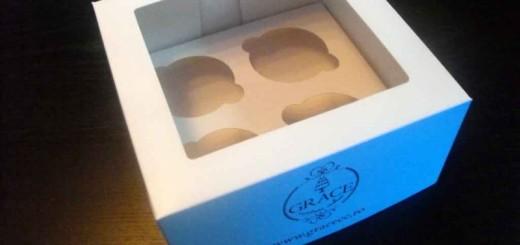 Cutii carton cu capac 4 briose Ambalaje Plastic | Ambalaje Din Plastic
