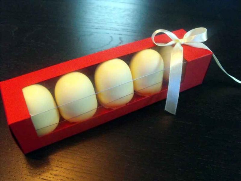Cutii carton cu fereastra Marshmallow