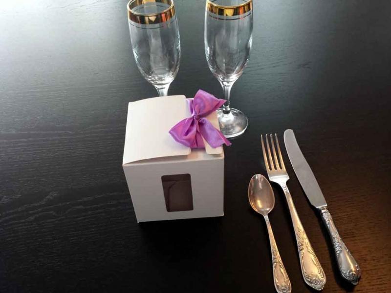 Cutii carton cu fereastra marturii nunta