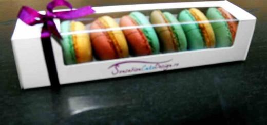 Cutii carton cu fereastra pentru Macarons