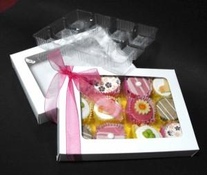 Petit fours window packaging box Ambalaje Plastic   Ambalaje Din Plastic