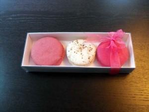 3 macaron boxes.