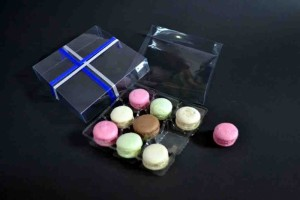 Clear macaron plastic packaging container