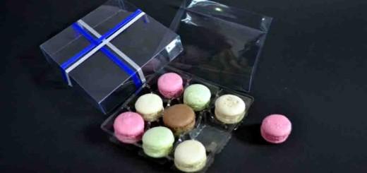 Cutii plastic cu chesa 9 Macarons