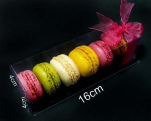 Plastic box for 7 macarons