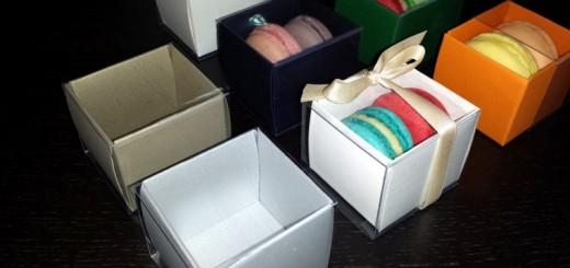 Cutii mici carton 2 Macarons marturii nunta Ambalaje Plastic | Ambalaje Din Plastic