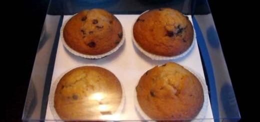 Cutii plastic cu capac 4 muffins