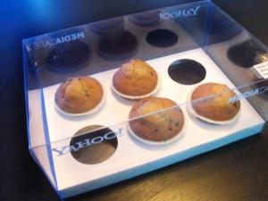 Cutii plastic cu capac 6 muffins, briose, cupcakes