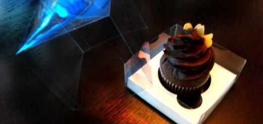 Cutii plastic cupcakes cu capac