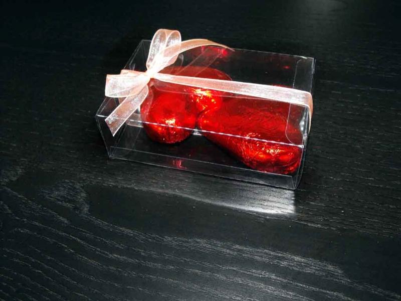Cutii plastic pentru ciocolata