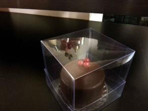Cake plastic packaging