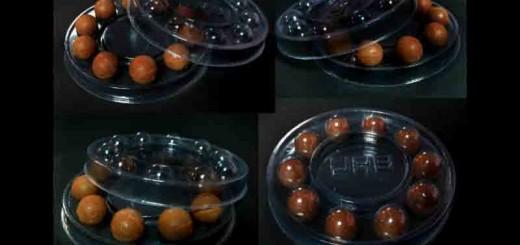Cutii rotunde cu chesa pentru bomboane Ambalaje Plastic | Ambalaje Din Plastic
