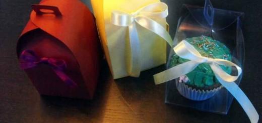 Cutiute carton colorat briosa, cupcakes Ambalaje Plastic | Ambalaje Din Plastic